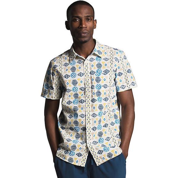 (取寄)ノースフェイス メンズ ベイトレイル パターン SS シャツ The North Face Men's Baytrail Pattern SS Shirt Vintage White Song Lines Print