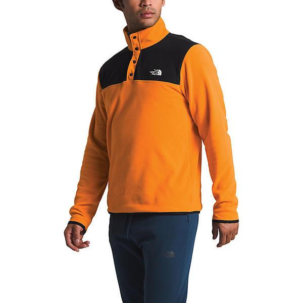 (取寄)ノースフェイス メンズ TKA グレイシャー スナップネック プルオーバー The North Face Men's TKA Glacier Snap-Neck Pullover Flame Orange / TNF Black