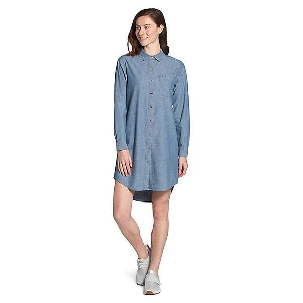 【エントリーでポイント5倍】(取寄)ノースフェイス レディース シャンブレー ドレス The North Face Women's Chambray Dress Medium Indigo Chambray