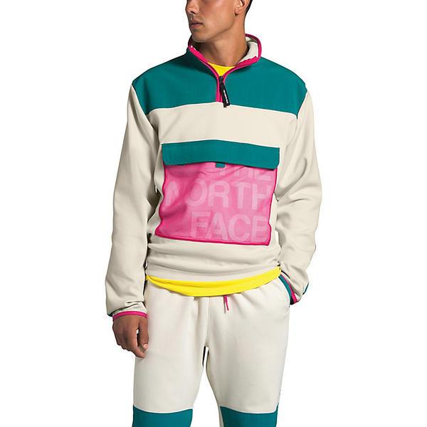 (取寄)ノースフェイス メンズ グラフィック コレクション 1/4 ジップ ジャケット The North Face Men's Graphic Collection 1/4 Zip Jacket Vintage White / Fanfare Green / Mr. Pink