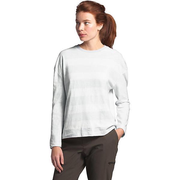 (取寄)ノースフェイス レディース ストライプ ニット LS トップ The North Face Women's Stripe Knit LS Top Tin Grey Boulder Stripe