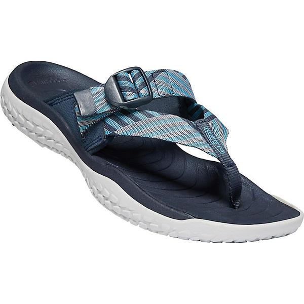 (取寄)キーン レディース ソーラー トゥ ポスト サンダル Keen Women's Solr Toe Post Sandal Navy / Blue Mist