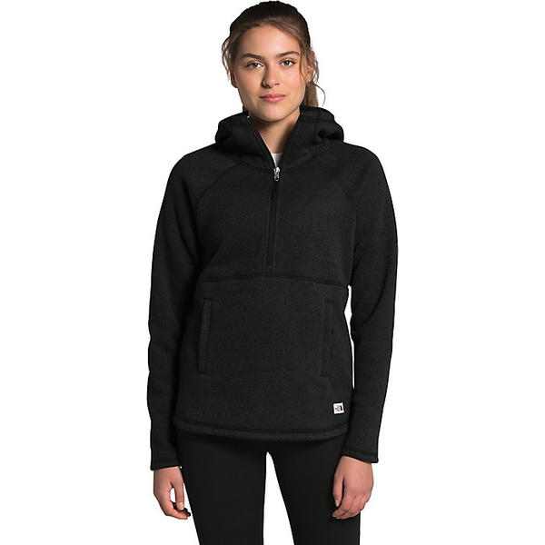 The North Face ノースフェイス ハイキング 登山 マウンテン アウトドア 最安値挑戦 ウェア アウター 爆安プライス 山ガール ファッション ブランド レディース プルオーバー Crescent Hooded TNF Women's クレセント ビッグサイズ 大きいサイズ フーデット Heather Pullover Black 取寄
