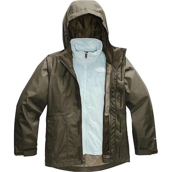 【クーポンで最大2000円OFF】(取寄)ノースフェイス ガールズ オソリータ トリクライメイト ジャケット The North Face Girls' Osolita Triclimate Jacket New Taupe Green