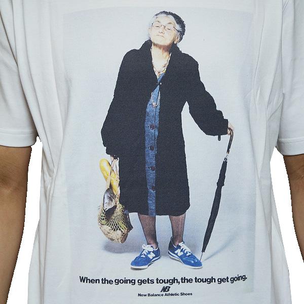 565c9bcee330b ... New Balance men short sleeves T-shirt ground mother T-shirt white New  Balance