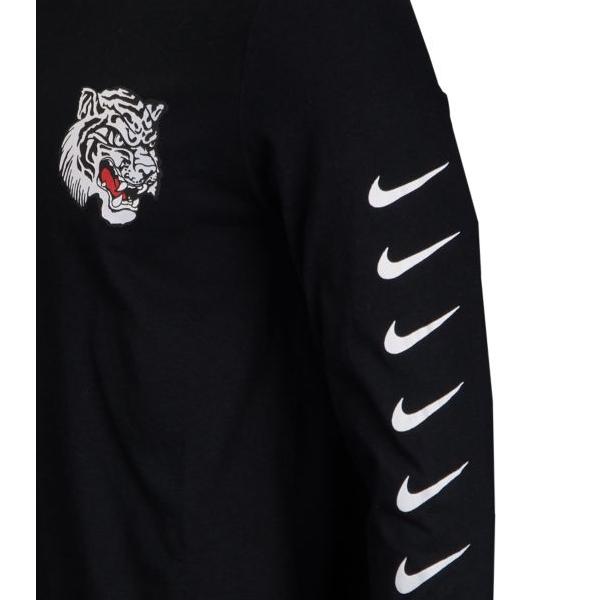 NIKE Nike men long sleeves T shirt black Air Max plus tune Longus Reeve Ron T NIKE Men's Air Max Plus Tuned Long Sleeve T shirt Black White