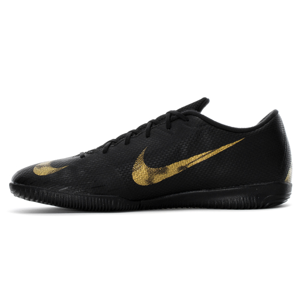 NIKE ナイキ メンズ フットサルシューズ インドア マーキュリアル ヴェイパー X 12 アカデミー ic Nike Men's Mercurial VaporX 12 Academy IC Black Metallic Vivid Gold