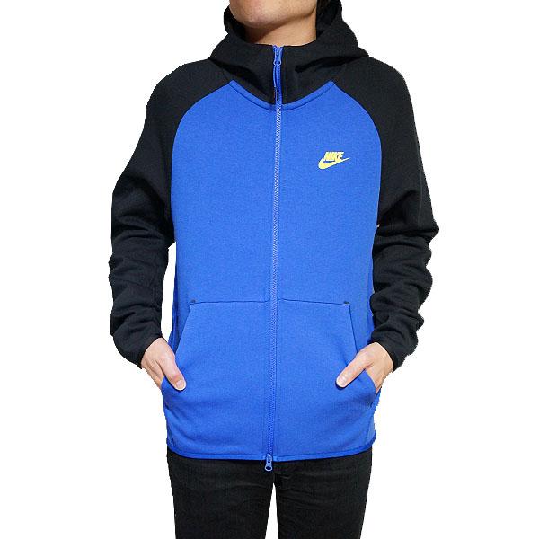 ナイキ メンズ パーカー テック フリース フルジップ フーディ ブルー Nike Men's Tech Fleece Full-Zip Hoodie