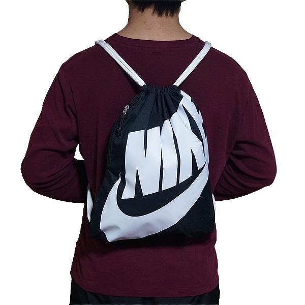 NIKE Nike Jim k knapsack Sportback black / white shoe bag for 02P28Sep16