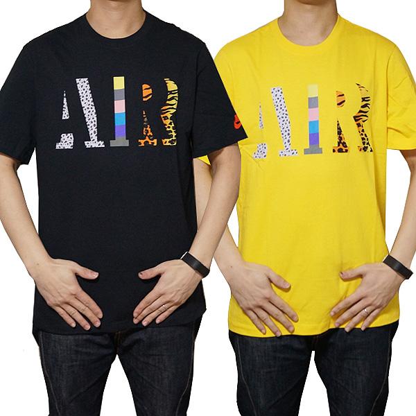 即日発送 メール便対応 NIKE ナイキ 半袖Tシャツ T-shirt クロ 黒 イエロー 黄色 ファッション Air ご注文で当日配送 T-Shirt Max Heritage 最新アイテム AIRロゴ エアマックス ブランド Tシャツ Nike メンズ ヘリテージ