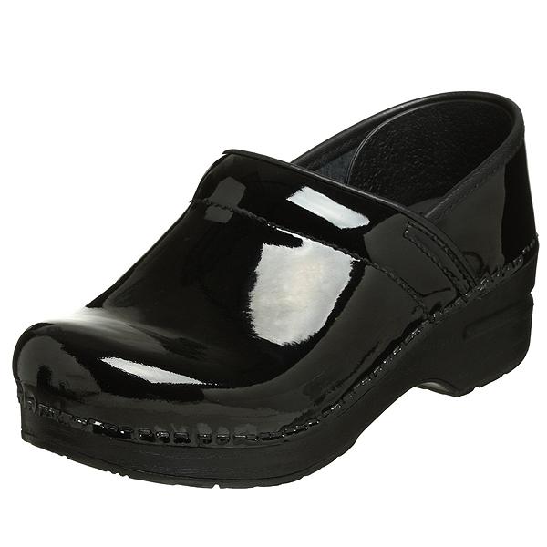 (取寄)ダンスコ プロフェッショナル レディース パテント レザー クロッグ ブラック dansko Professional Patent Leather Clog Black【サボ サンダル コンフォートシューズ 大きいサイズ 靴】 【コンビニ受取対応商品】