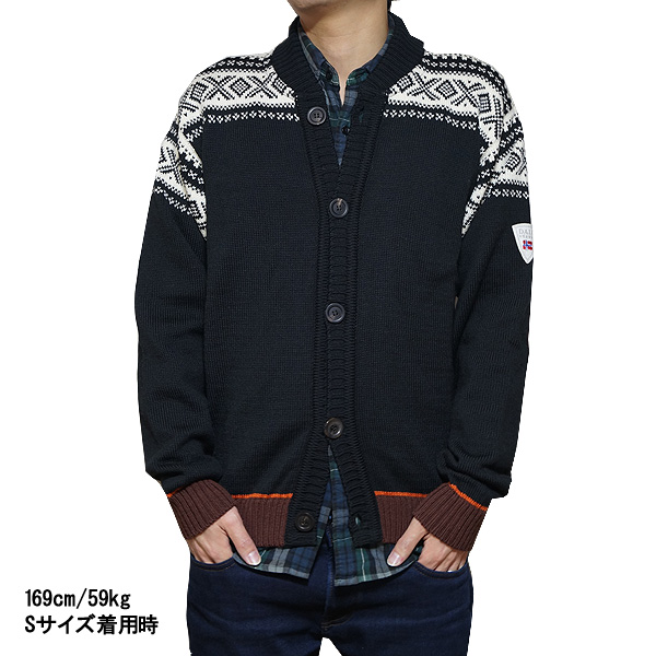196f07beb256 ダーレオブノルウェイメンズカーディガンコルチナボンバーセーター Dale of Norway Men s Cortina Bomber Sweater  Black Off White Sunset Bitter Chocolate
