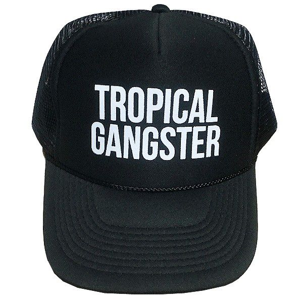 It supports Sam gong cap tropical gang star tracker black SAMUDRA Tropical Gangster Trucker Black
