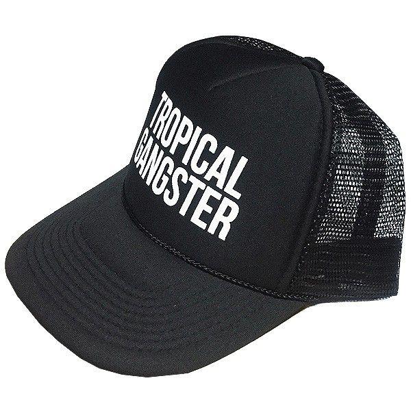 支持萨姆铜锣盖子热带匪伙天体跟踪器黑色SAMUDRA Tropical Gangster Trucker Black
