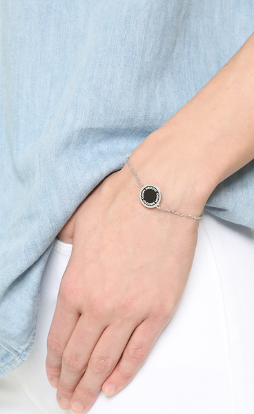 9a2fee57011c4 ... (order) mark Jacobs bracelet silver enamel logo disk Marc Jacobs Enamel  Logo Disc Bracelet ...