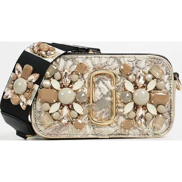 (取寄)Marc Jacobs Snapshot Camera Bag in Floral Brocade マークジェイコブス スナップショット カメラ バッグ イン フローラル ブロケード BeigeMulti