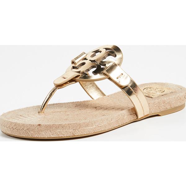 (取寄)Tory Burch Women's Miller Espadrille Sandals トリーバーチ レディース ミラー エスパドリーユ サンダル GoldPerfectCuoio