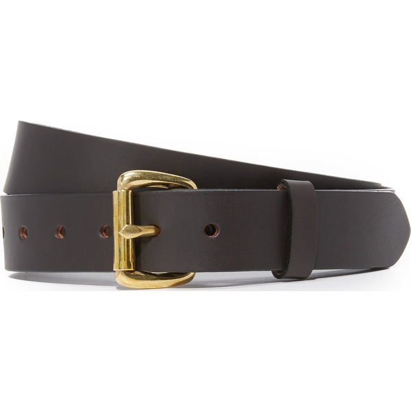 (取寄)FILSON Bridle Leather Belt フィルソン ブライドル レザー ベルト BrownwithBrass