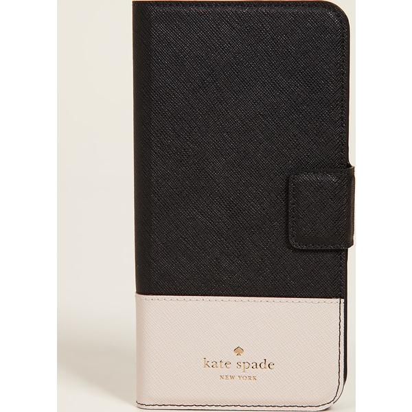 (取寄)Kate Spade New York Leather Wrap Folio iPhone 7 Plus / 8 Plus Case ケイトスペード レザー ラップ フォリオ iPhone 7 プラス / 8 プラス ケース BlackTusk