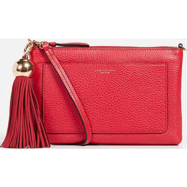 (取寄)Tory Burch Leather Tassel Crossbody Bag トリーバーチ レザー タッセル クロスボディ バッグ BrilliantRed