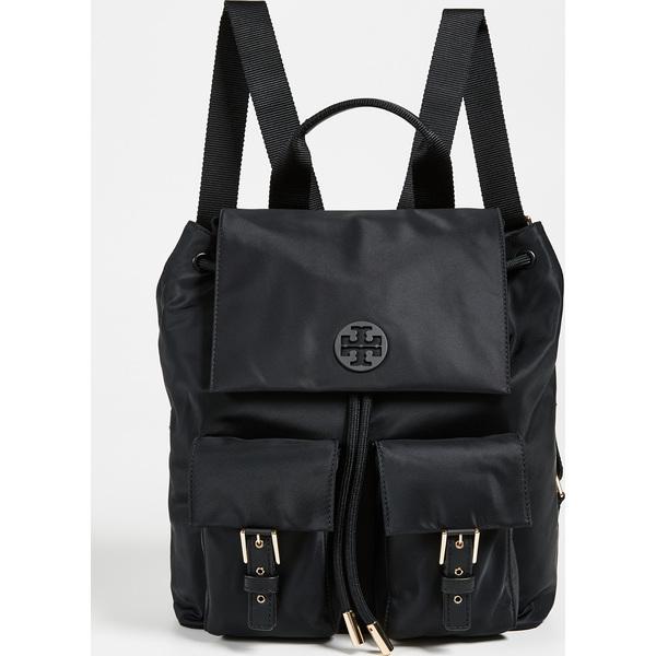 (取寄)Tory Burch Tilda Nylon Flap Backpack トリーバーチ ティルダ ナイロン フラップ バックパック Black