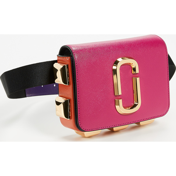 (取寄)マークジェイコブス ヒップ ショット スタッズ コンバーチブル ベルト バッグ Marc Jacobs Hip Shot Studs Convertible Belt Bag MagentaMulti