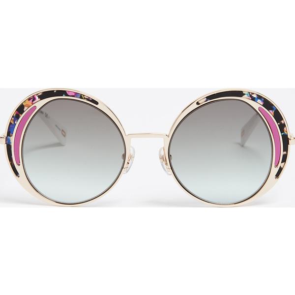 (取寄)Marc Jacobs Top Frame Round Sunglasses マークジェイコブス トップ フレーム ラウンド サングラス MultiBlackGreenAqua