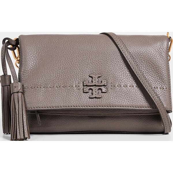 (取寄)トリーバーチ Mcgraw チェイン フォールドオーバー クロスボディ バッグ Tory Burch Mcgraw Chain Fold-Over Crossbody Bag SilverMaple