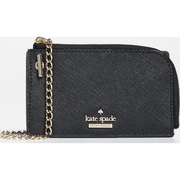 (取寄)ケイトスペード キャメロン ストリート アイヴィ カード ケース ウィズ キー リング Kate Spade New York Cameron Street Ivey Card Case with Key Ring Black