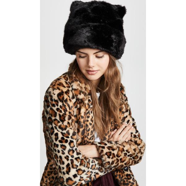 (取寄)ケイトスペード フォー ファー ハット ウィズ イヤーズ Kate Spade New York Faux Fur Hat With Ears BlackBlack
