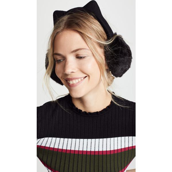(取寄)ケイトスペード フォー ファー キティ イア マフ Kate Spade New York Faux Fur Kitty Ear Muffs Black