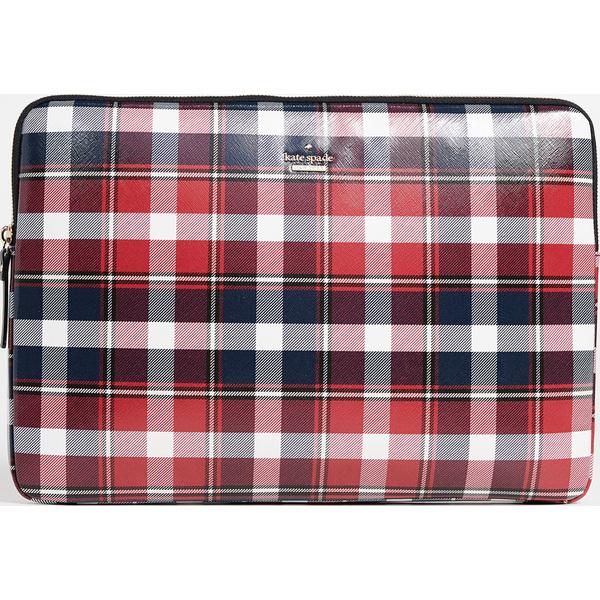 (取寄)ケイトスペード ラスティック プレイド ユニバーサル ラップトップ スリーブ Kate Spade New York Rustic Plaid Universal Laptop Sleeve RedMulti
