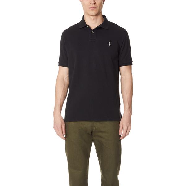 (取寄)ポロ ラルフローレン カスタム スリム フィット ポロ シャツ Polo Ralph Lauren Custom Slim Fit Polo Shirt Black