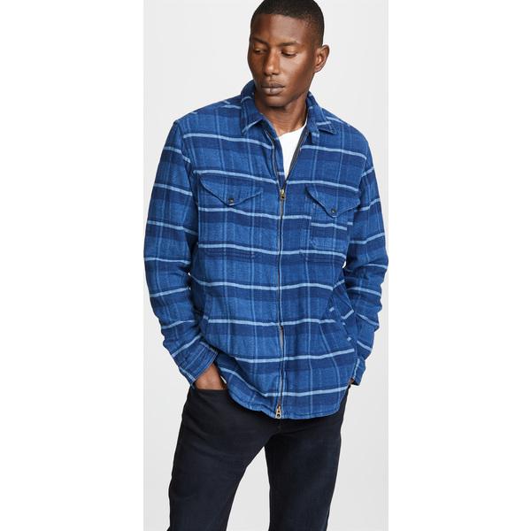 (取寄)ポロ ラルフローレン ロング スリーブ フル ジップ プレイド シャツ Polo Ralph Lauren Long Sleeve Full Zip Plaid Shirt IndigoSlate