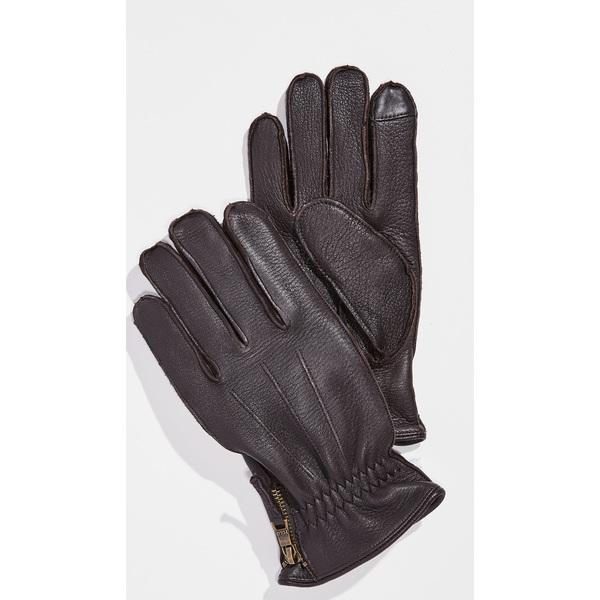 (取寄)ポロ ラルフローレン ディアスキン グローブ ウィズ サイド ジップ Polo Ralph Lauren Deerskin Gloves with Side Zip CircuitBrown