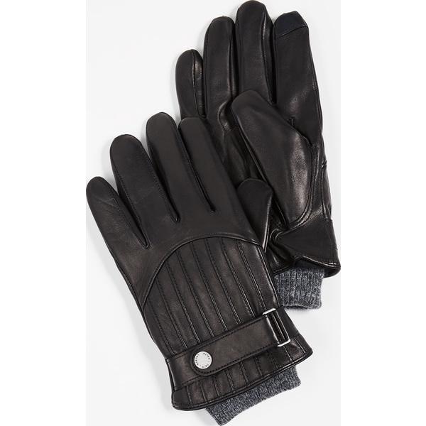 【エントリーでポイント5倍】(取寄)ポロ ラルフローレン キルテッド レーシング グローブ Polo Ralph Lauren Quilted Racing Gloves Black