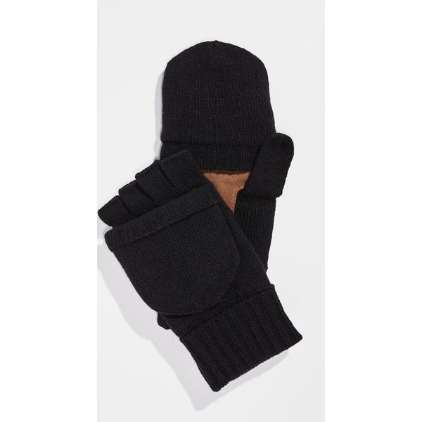 (取寄)ポロ ラルフローレン ウール ブレンド コンバーチブル ミトンズ Polo Ralph Lauren Wool Blend Convertible Mittens Black