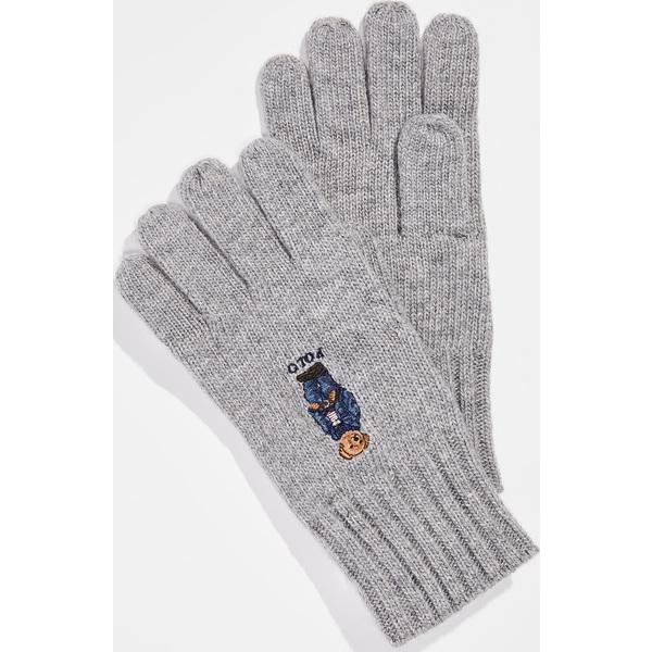 (取寄)ポロ ラルフローレン ジーン ジャケット セーター ベアー グローブ Polo Ralph Lauren Jean Jacket Sweater Bear Gloves AndoverHeather