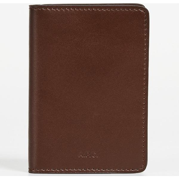 (取寄)アーペーセー リッセ ブリアン カード ケース A.P.C. Lisse Brillant Card Case Brown