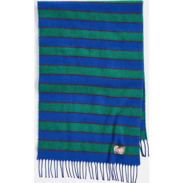(取寄)ケンゾー ストライピー ウール ストール スカーフ KENZO Stripy Wool Stole Scarf FrenchBlue