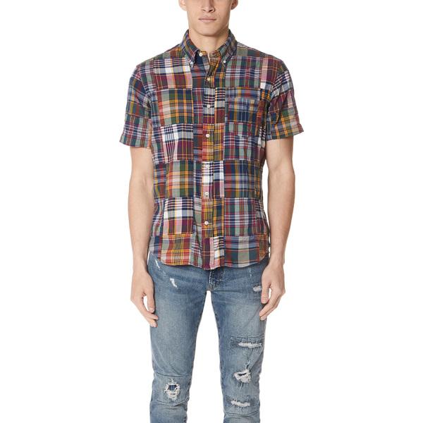 (取寄)ポロ ラルフローレン マドラス シャツ Polo Ralph Lauren Madras Shirt DarkBleederPatchwork