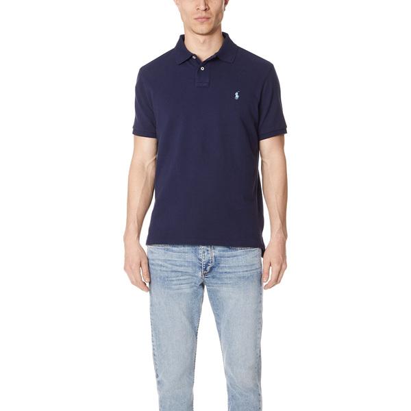 (取寄)ポロ ラルフローレン カスタム スリム フィット ポロ シャツ Polo Ralph Lauren Custom Slim Fit Polo Shirt NewportNavy
