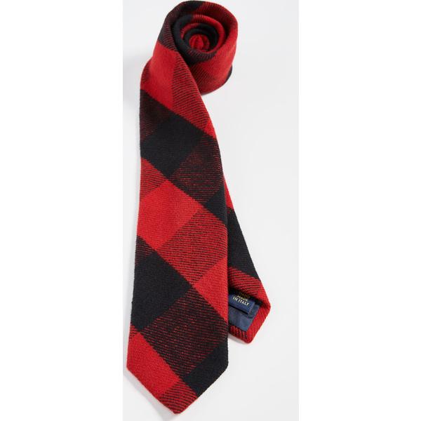 (取寄)ポロ ラルフローレン バッファロー プレイド タイ Polo Ralph Lauren Buffalo Plaid Tie BlackRed