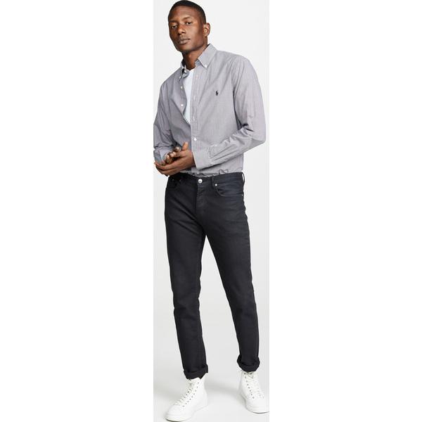 (取寄)ポロ ラルフローレン スリム ストレッチ ポプリン シャツ Polo Ralph Lauren Slim Stretch Poplin Shirt BlackWhite