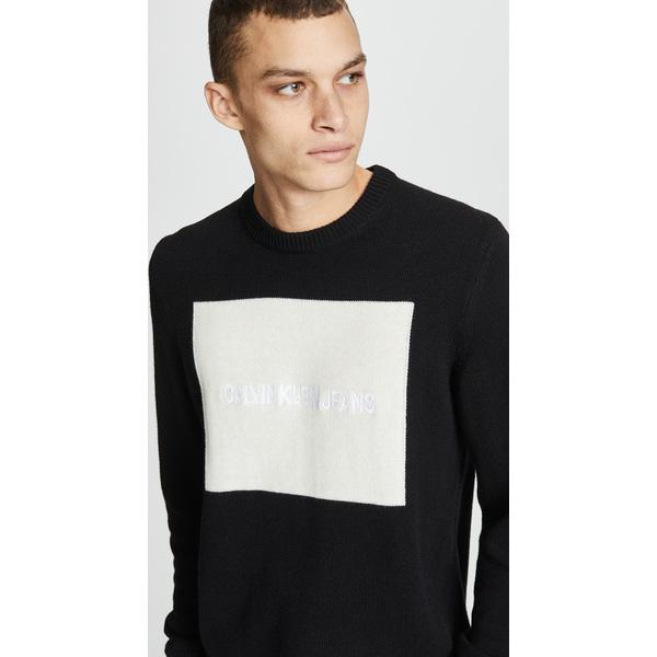 (取寄)カルバンクライン ジーンズ ロゴ セーター Calvin Klein Jeans Logo Sweater Black