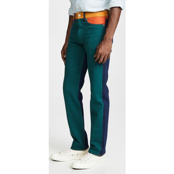 (取寄)カルバンクライン ジーンズ ストレート ブロック カラー ウクレレ パッチ ジーンズ Calvin Klein Jeans Straight Blocked Color Ukelely Patch Jeans UkulelePatch
