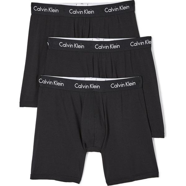 (取寄)カルバンクライン アンダーウェア メンズ 3 パック ボディ モーダル ボクサー ブリーフ Calvin Klein Underwear Men's 3 Pack Body Modal Boxer Briefs Black
