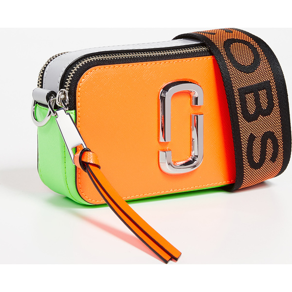 (取寄)マークジェイコブス スナップショット フルロ カメラ バッグ Marc Jacobs Snapshot Fluro Camera Bag OrangeMulti