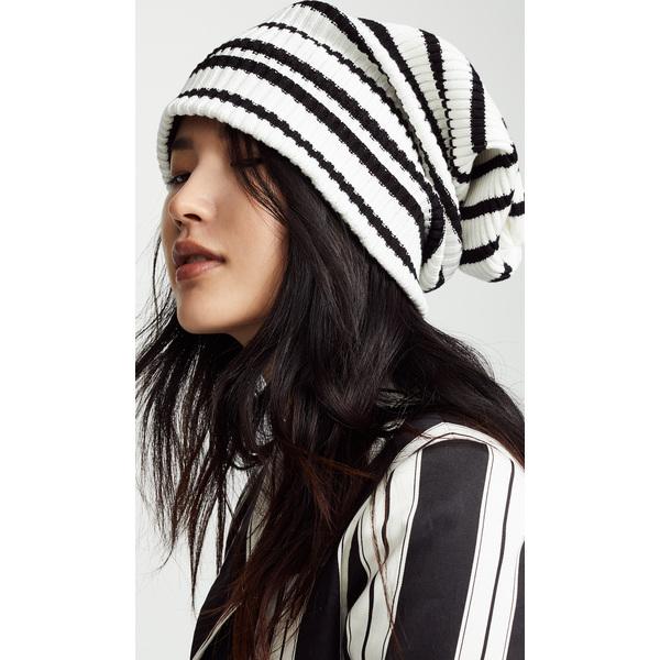 (取寄)マークジェイコブス アンイーブン ストライプ ハット Marc Jacobs Uneven Stripe Hat White Black