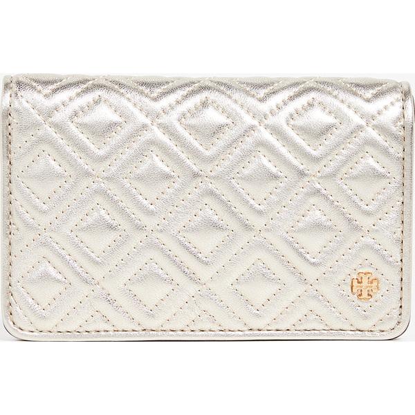 (取寄)トリーバーチ フレミング メタリック スリム ミディアム ウォレット Tory Burch Fleming Metallic Slim Medium Wallet WhiteGold